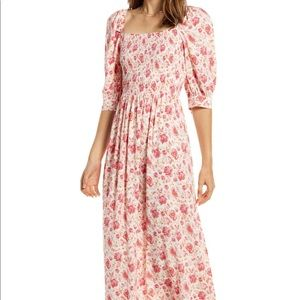 Something navy floral maxi (photo is cut off)